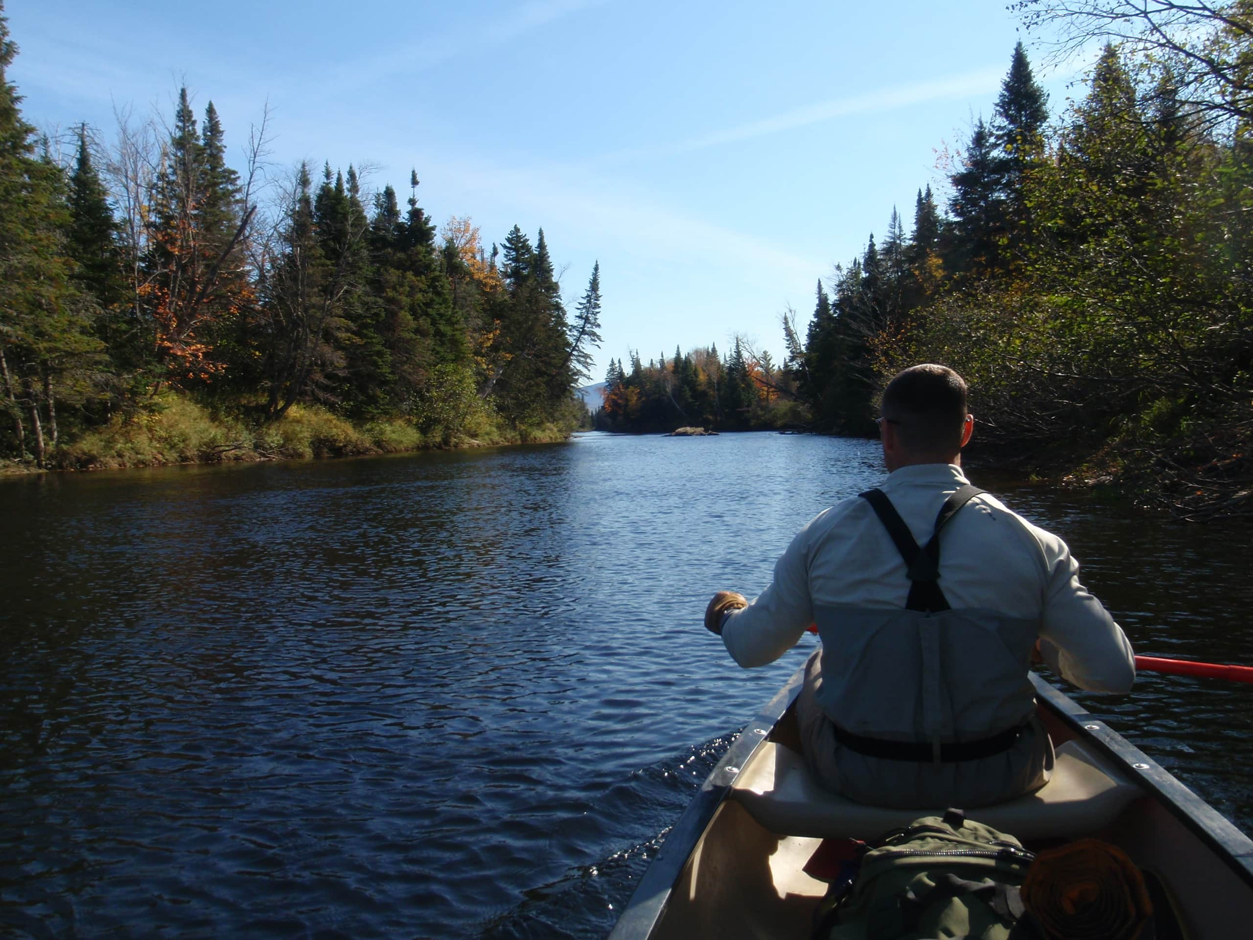 A Little Foggy From a Bottle of Old Crow the Night Before, Mother Nature Rewards us with Serene Conditions - Moosehead River ME