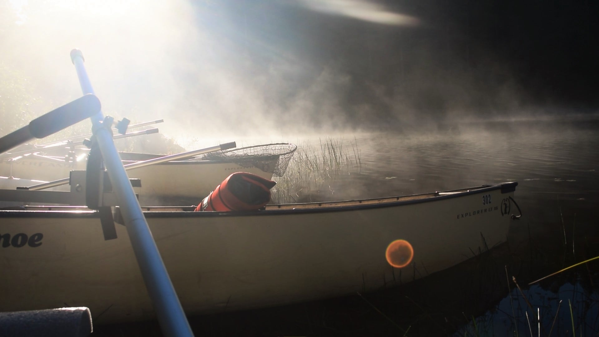 Getting ready for muskies in the mist